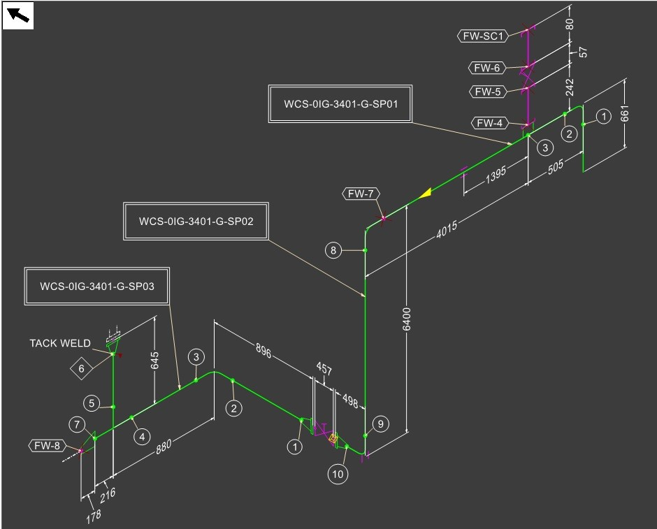 SHEET WISE WELD NUMBERING