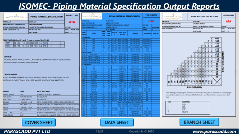 Piping Isometric Software