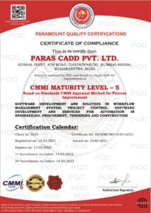 Parascadd is CMMI Level 5 certified